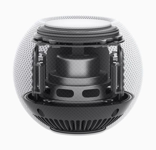 El interior del HomePod mini.
