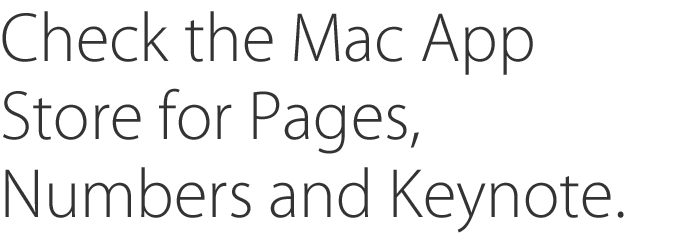 Up-to-Date Programme for Pages, Numbers and Keynote - Apple (UK)