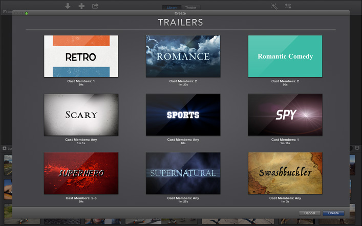 Apple redirect for Trailer templates for imovie