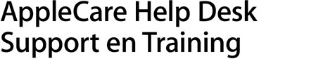 AppleCare Help Desk Support en training