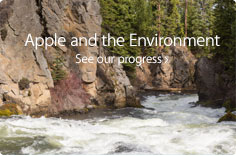 Apple and the Environment. See our progress.