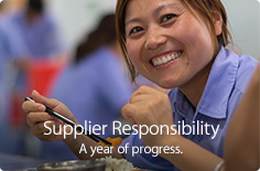Supplier Responsibility. A year of progress.