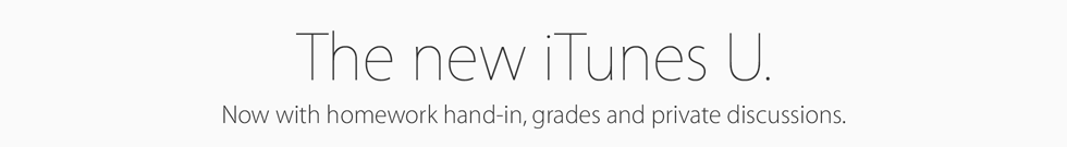 The new iTunesU. Now with homework hand-in, grades and private discussions.