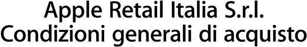 Apple Retail Italia S.r.l. Condizioni generali di acquisto