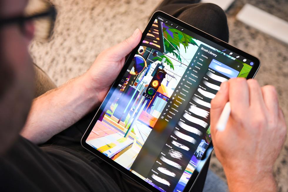 The Procreate app, displayed on the 11-inch iPad Pro.