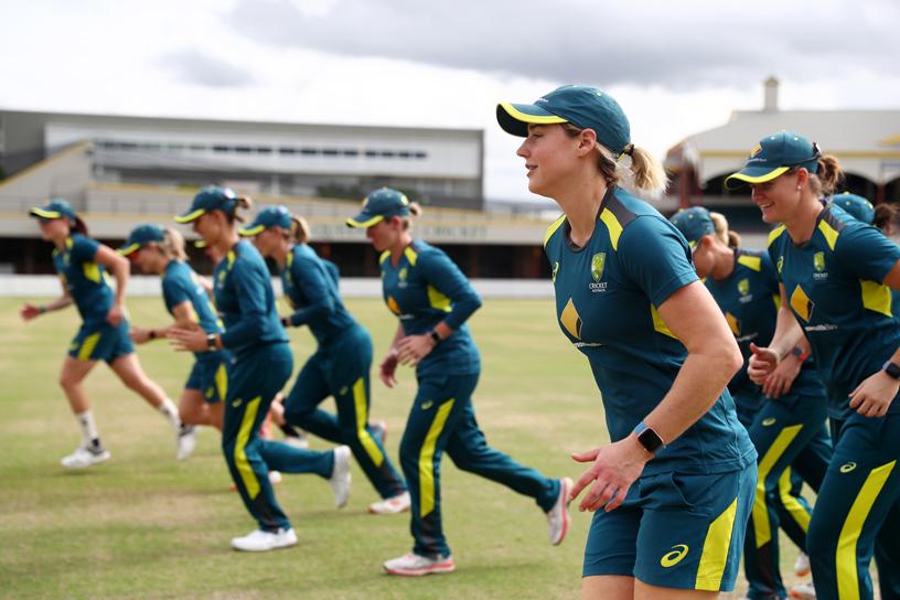 Australian Women's Cricket Team on-field.