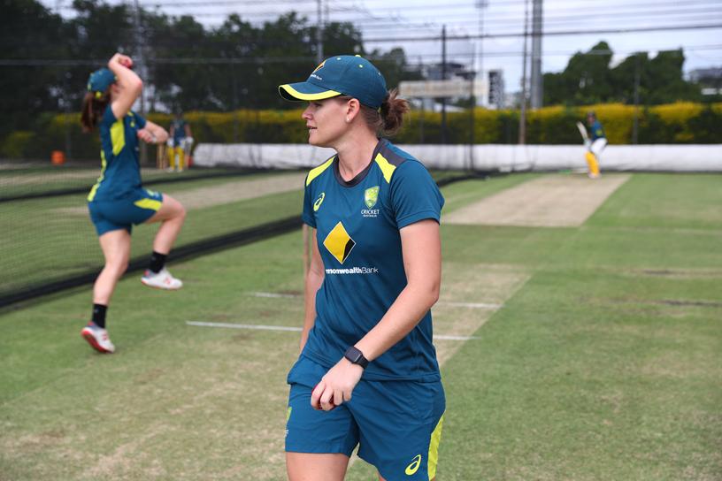 Australian Women's Cricket Team Player on-field.