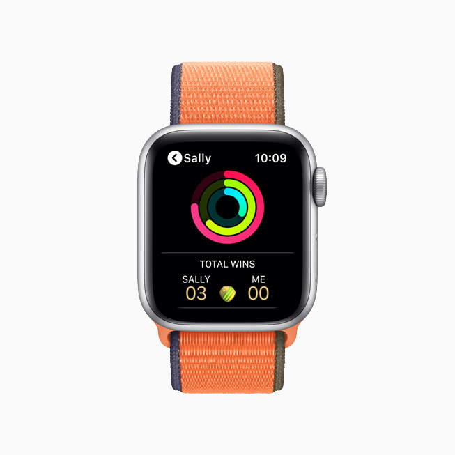 Activity notification on Apple Watch.