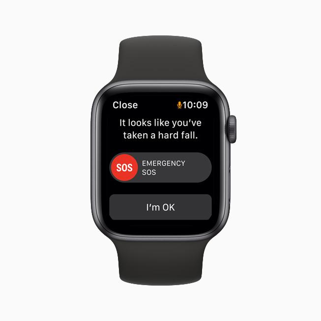 Emergency SOS screen on Apple Watch.