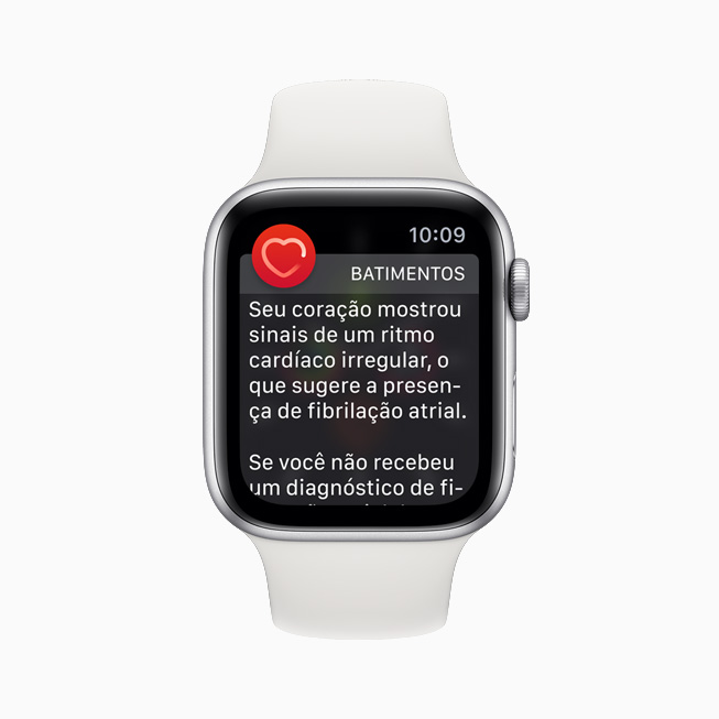 O app ECG mostra o ritmo sinusal no iPhone e Apple Watch.