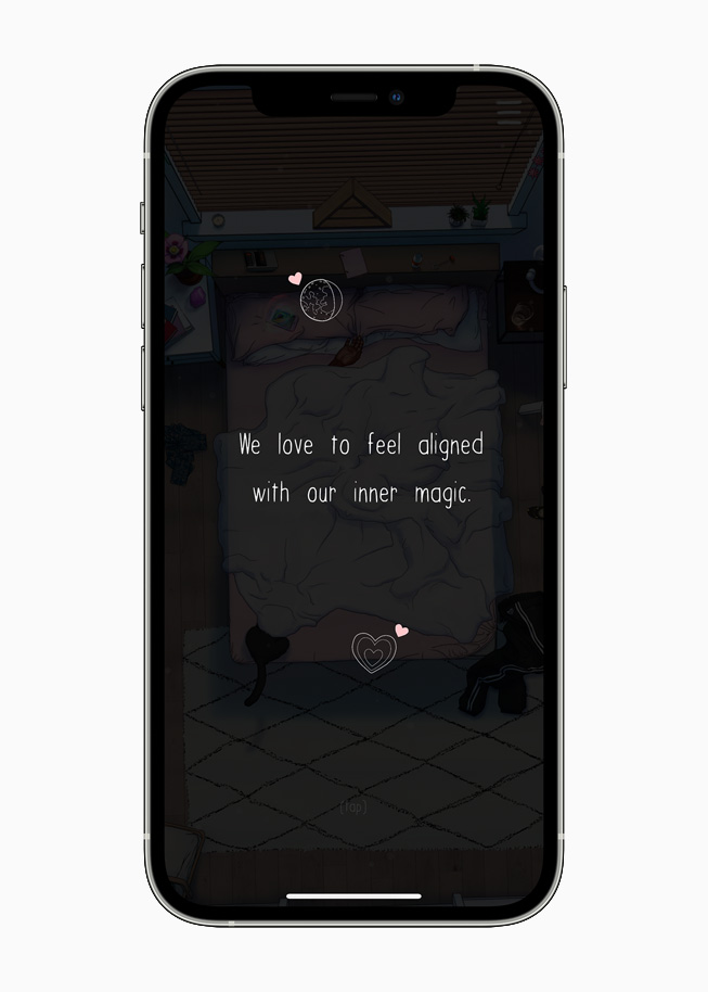 #SelfCare meditation displayed on iPhone 12 Pro.