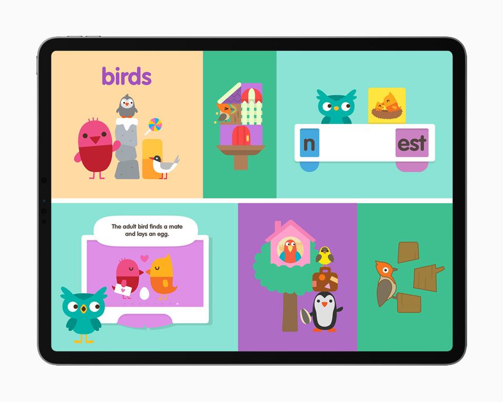 Sago Mini School displayed on iPad Pro 12.9-inch.