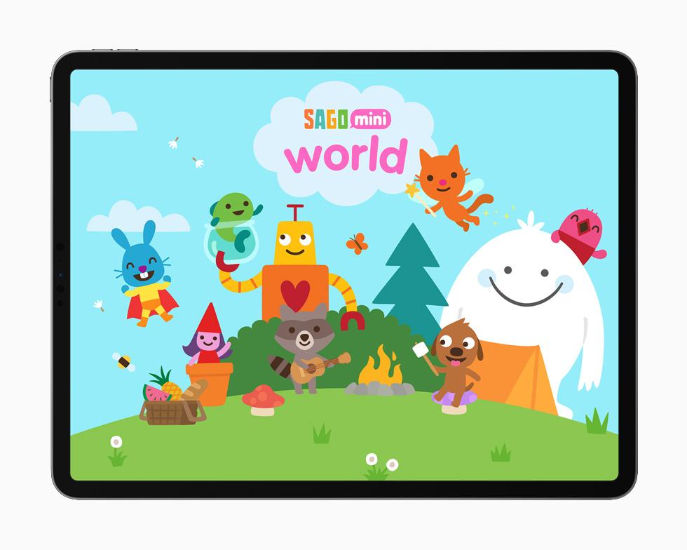 Sago Mini World displayed on iPad Pro 12.9-inch.