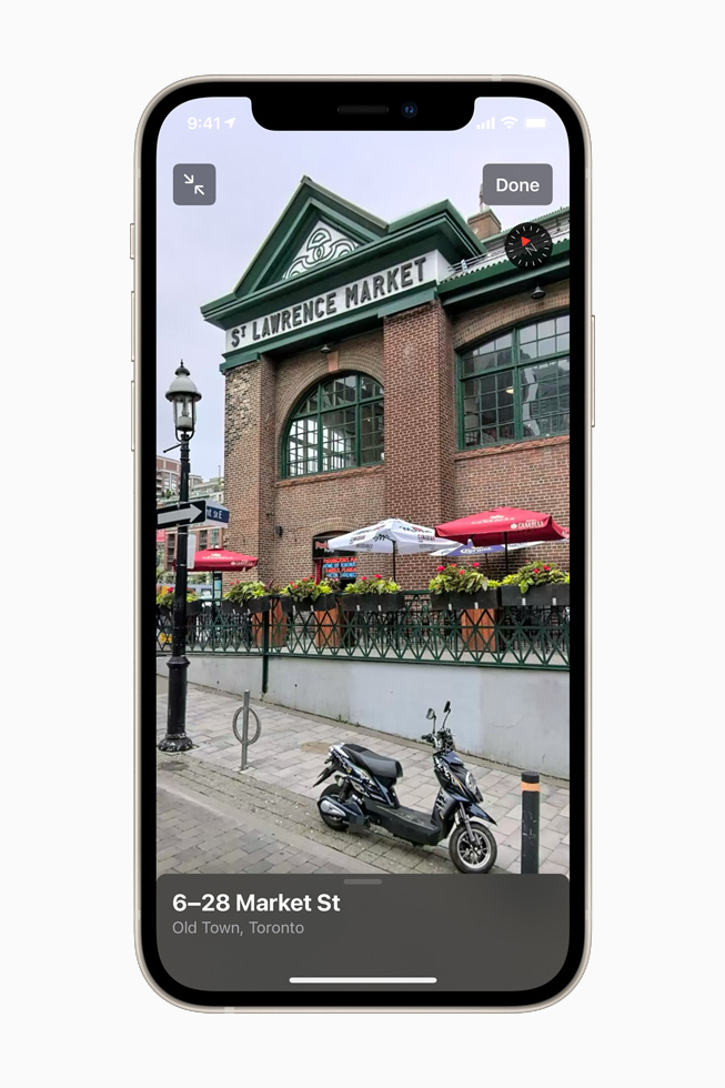 Look Around feature showing Toronto location on iPhone 12.
