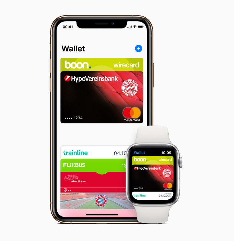Wallet App auf iPhone und Apple Watch.
