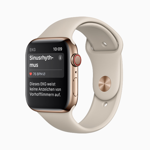 Apple Watch Serie 4 mit Sinusrhythmus.