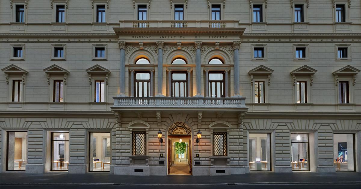 Apple Via Del Corso opens in Rome exterior building 052721 jpg og jpg?202107201544.