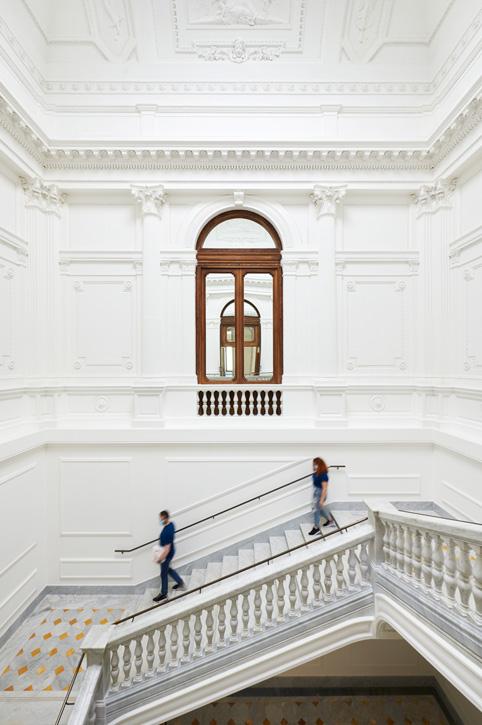The grand staircase at Apple Via del Corso.