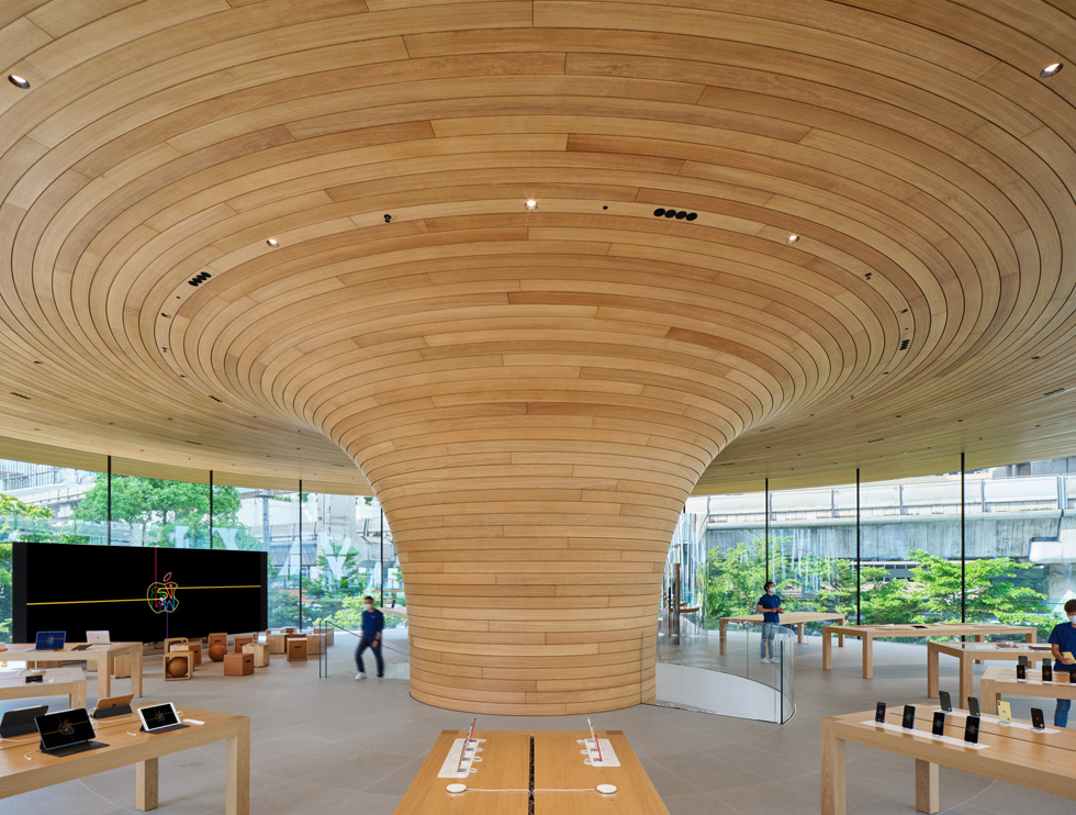 The interior of Apple Central World.