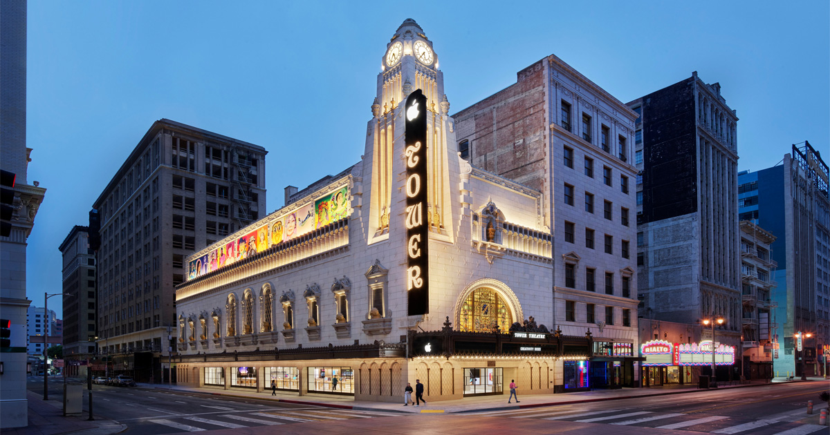 photo of Apple Tower Theatre opens Thursday in downtown Los Angeles image