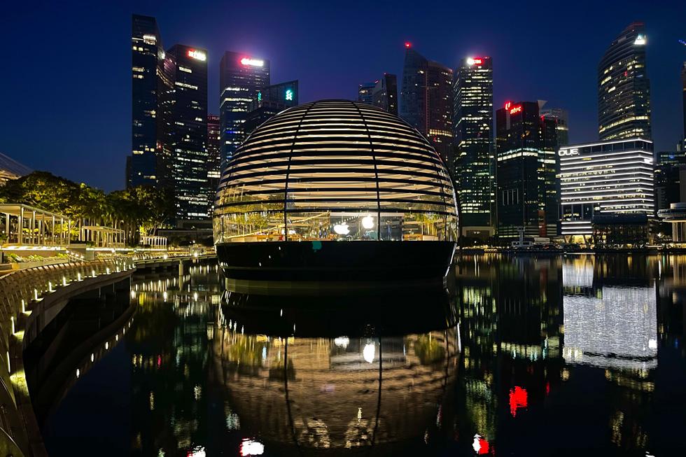Apple Marina Bay Sands, à Singapour, photographié avec l'iPhone 12 ProMax.