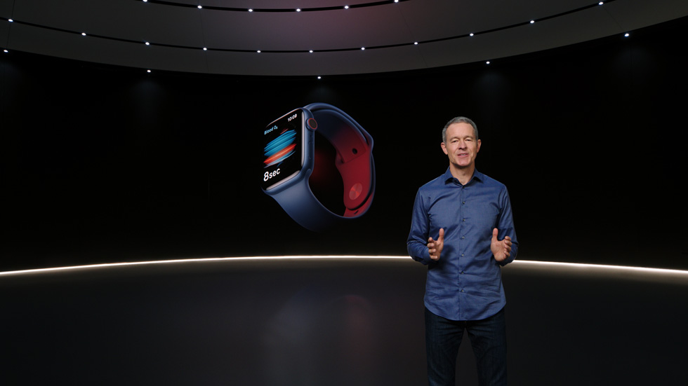 Jeff Williams présente l'Apple Watch Series 6.