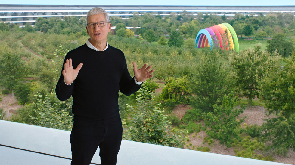 Tim Cook à Apple Park.