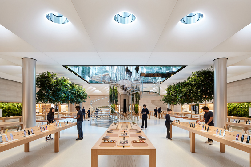 The interior of the new Apple Fifth Avenue.