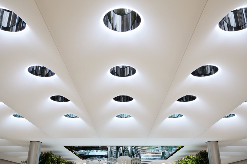 Skylights at Apple Fifth Avenue.