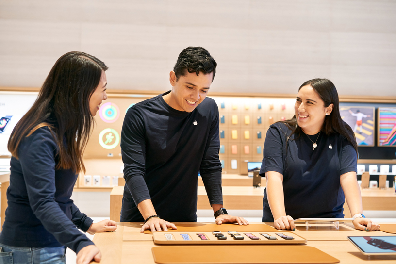 Team members at Apple Antara.
