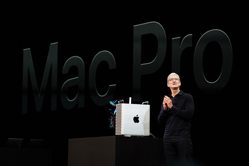 The all-new Mac Pro on stage at WWDC 2019.