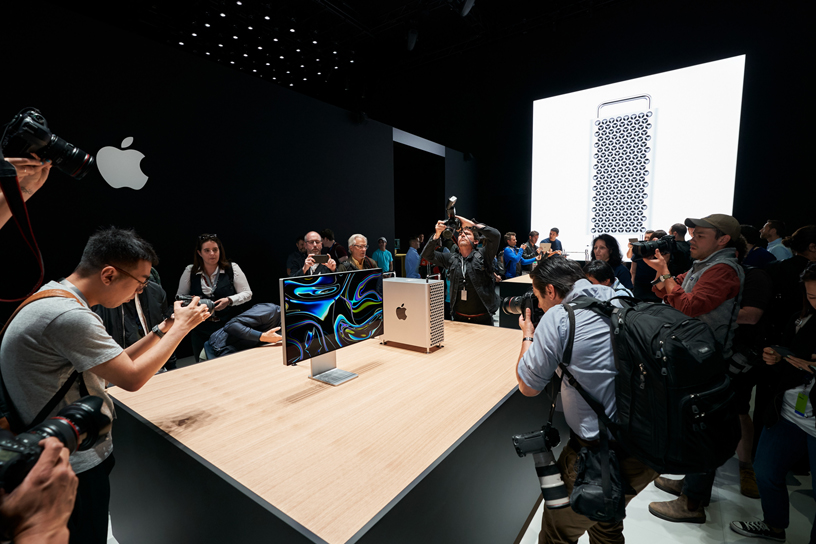 WWDC guests photographing Mac Pro and Pro Display XDR.