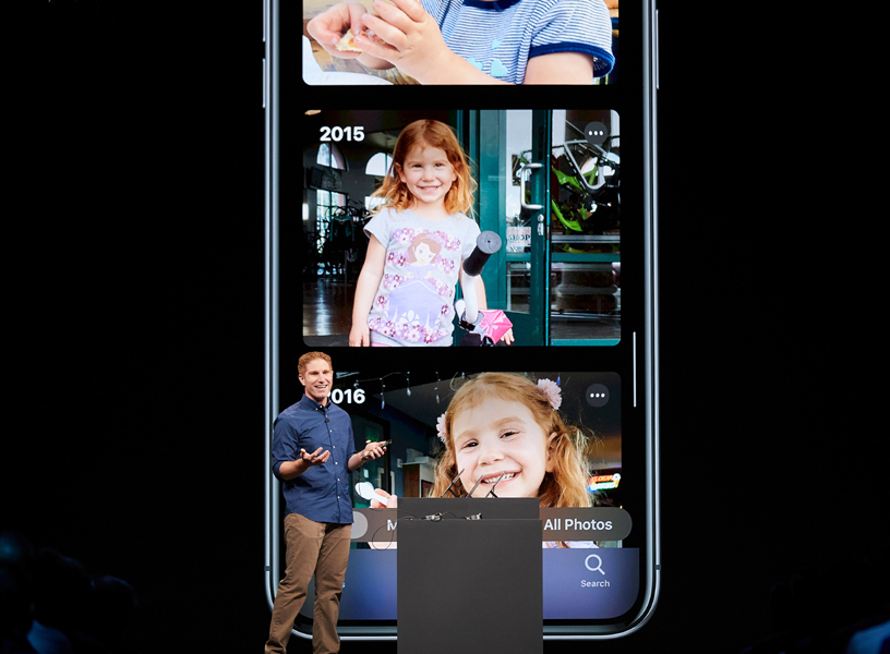Justin Titi on stage at WWDC 2019.
