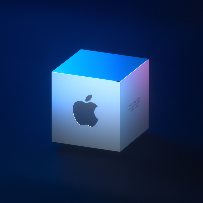 The 2019 Apple Design Award cube.