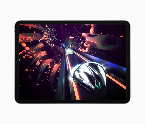 """Thumper"" gameplay displayed on iPad."