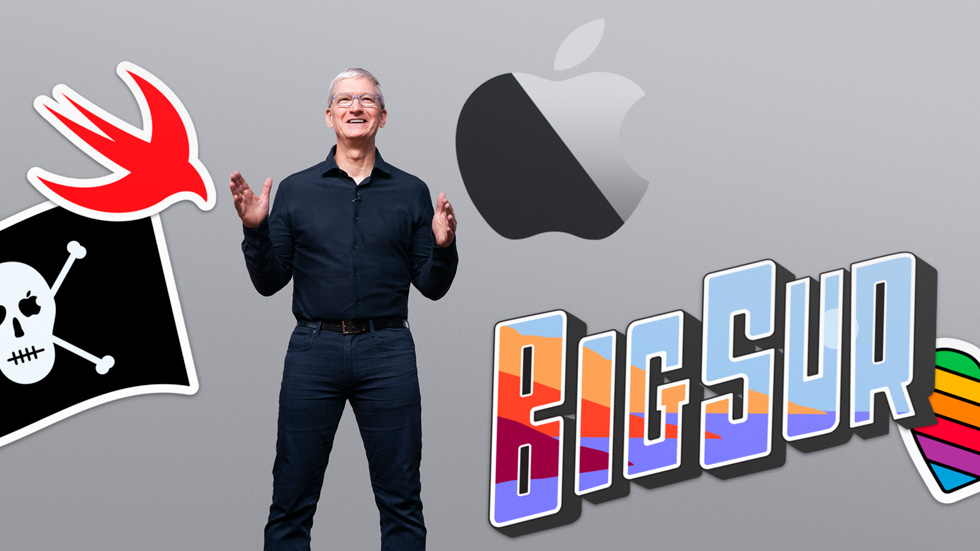 Tim Cook onstage at WWDC20.