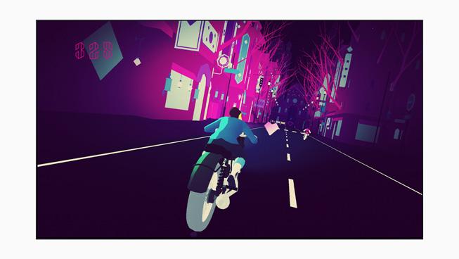 """""""Sayonara Wild Hearts"""" vom Entwickler Simogo aus Malmö, Schweden, und dem Publisher Annapurna Interactive mit Sitz in Los Angeles."""