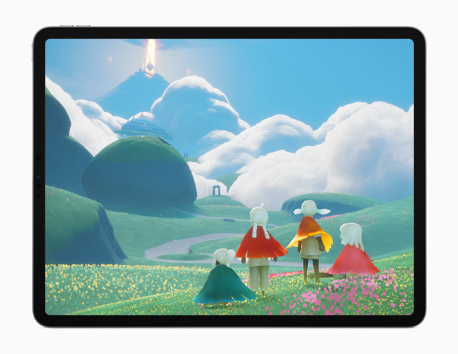 "The ""Sky: Children of the Light"" game displayed on iPad Pro."