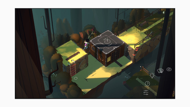 "Gameplay from ""Where Cards Fall.""  Apple Design Awards"