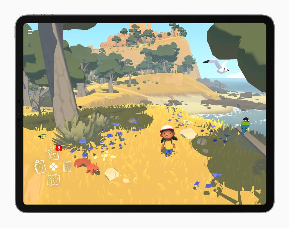 """Alba"" gameplay displayed on iPad Pro."