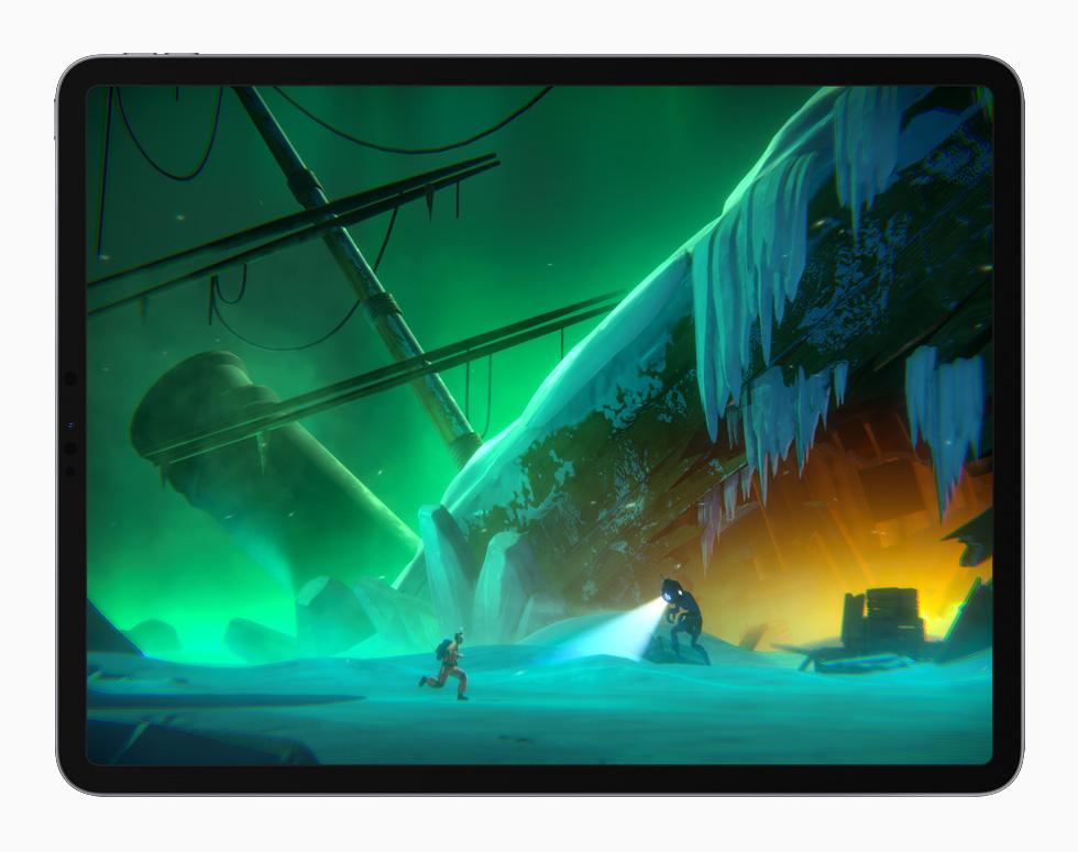 """Little Orpheus"" gameplay displayed on iPad Pro."
