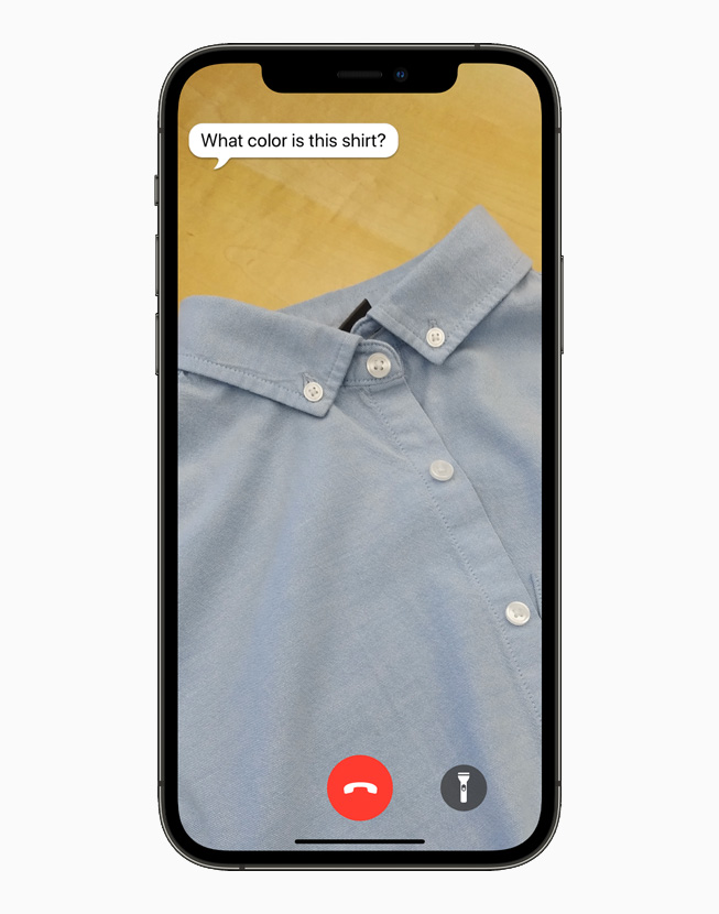 Be My Eyes app displayed on iPhone 12 Pro.