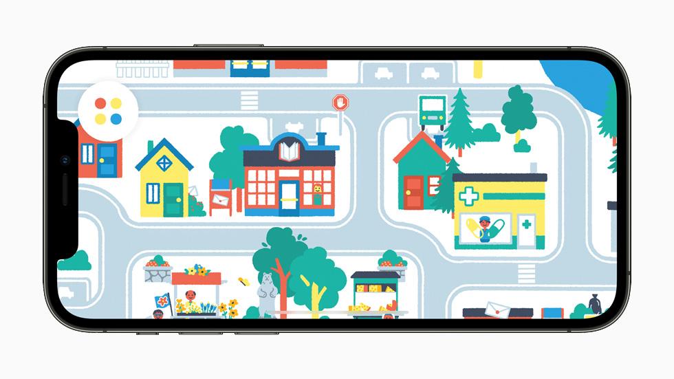 """Pok Pok Playroom"" gameplay displayed on iPhone 12 Pro."