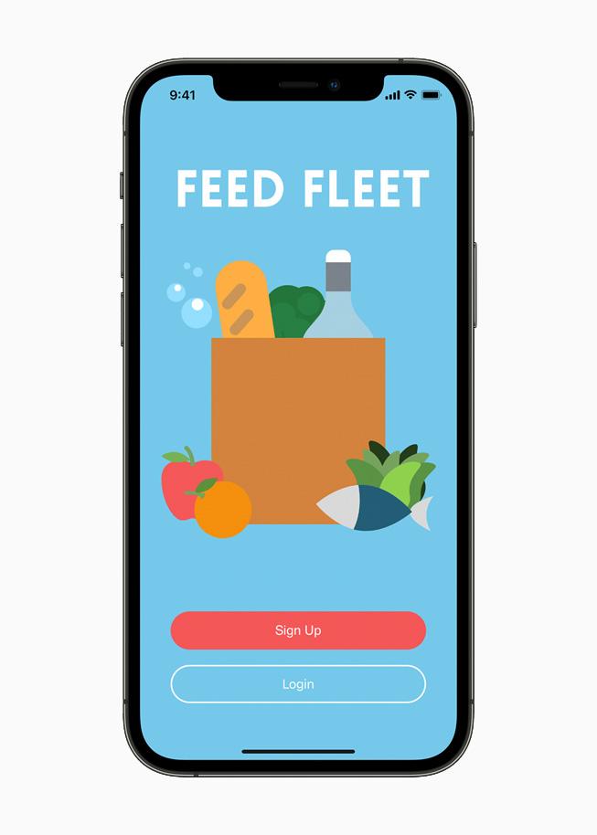 Die Landingpage der Feed Fleet-App.