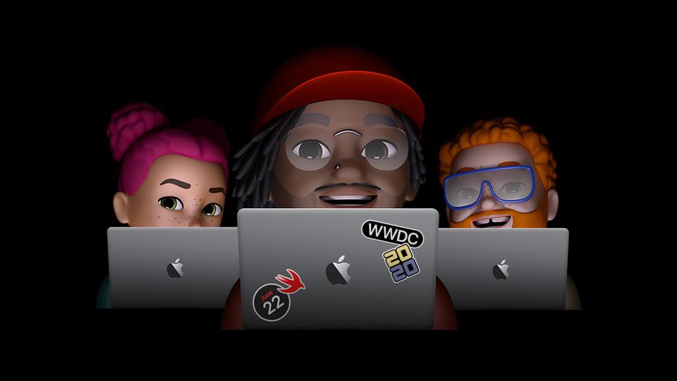 ミー文字の WWDC 2020 ポスター。