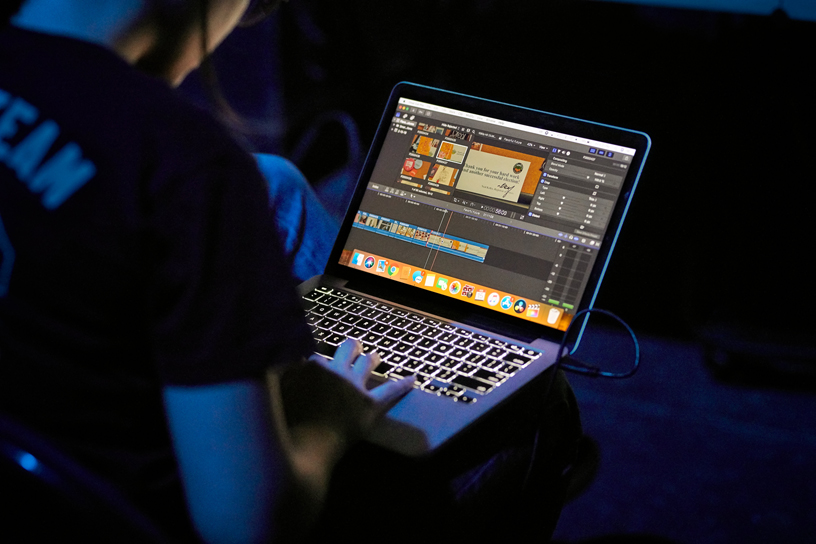 Final Cut Pro is used to edit students' music videos.