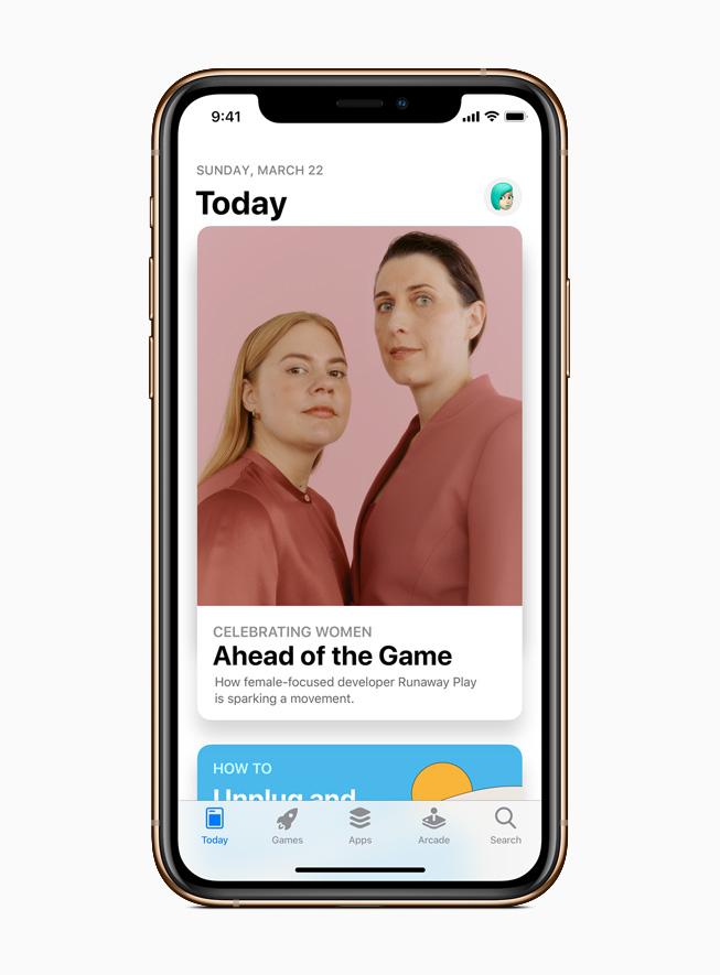App Store는 여성 개발자, 디자이너 및 기업가들을 소개한다.
