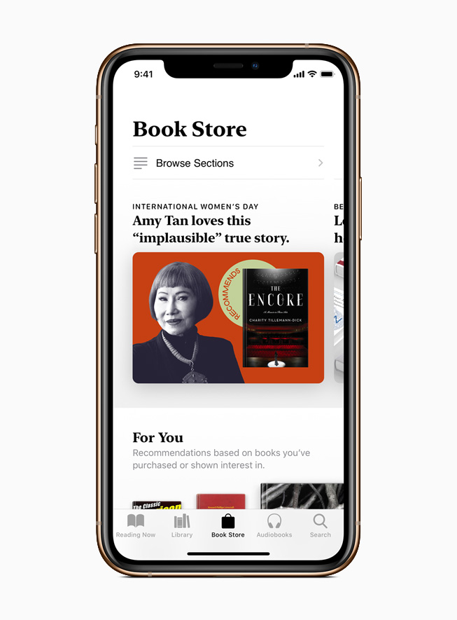 Apple Books collection of books recommended by female leaders and creators.
