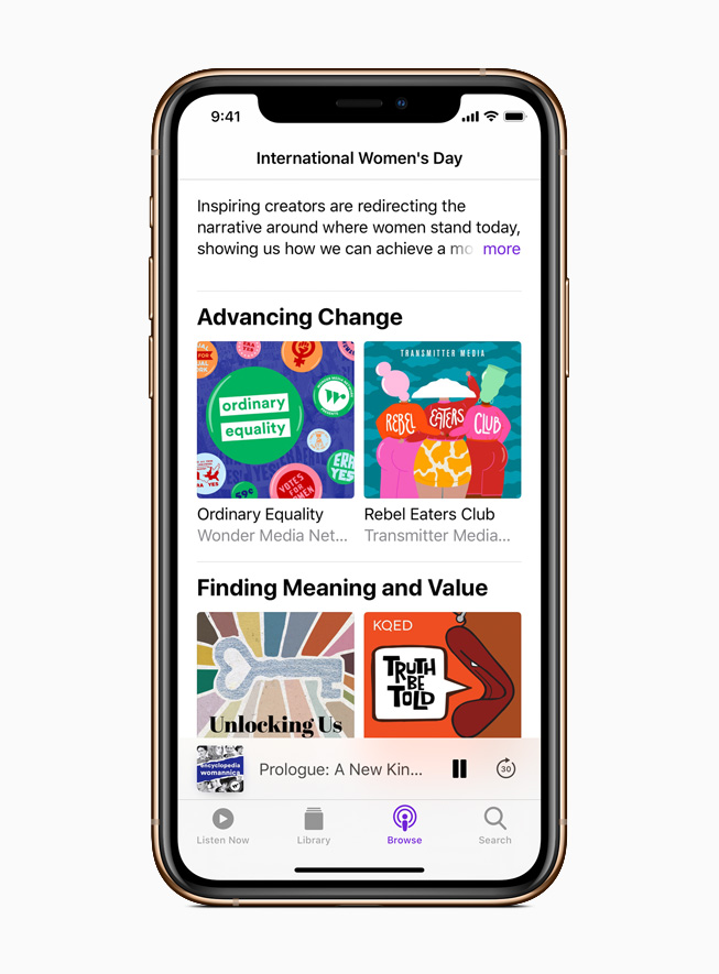 Apple Podcasts collection of women podcasters and female-focused shows and stories.