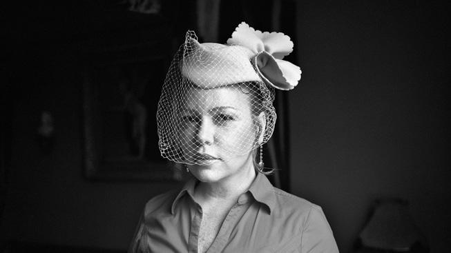 A black and white portrait by photographer Yvonne Venegas.
